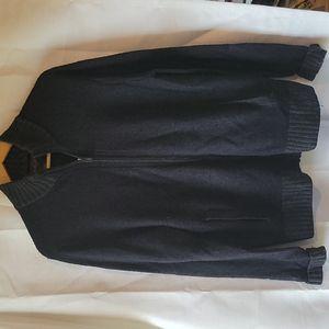 Black Brown 1826 men's zip up lambs wool sweater